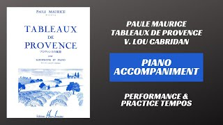 Paule Maurice – Tableaux de Provence, mvt. V (Piano Accompaniment)