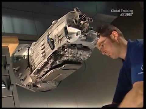 Снятие электрогидравлического  блока управления Mercedes  АКПП -  722.9