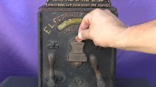 Turn of the Century Cast Iron Mill Novelty Firefly Shock Machine Carnival Penny Arcade