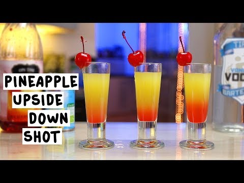 Pineapple Upside Down Shots