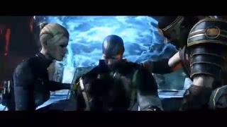Mortal Kombat X Sangue voando e Cabeça Rolando.