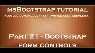 Bootstrap form controls thumbnail