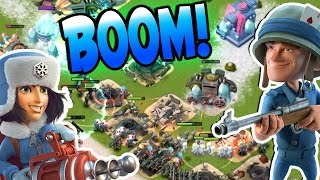 Boom Beach CRYO-RZM ATTACK STRATEGY! & My New Clan