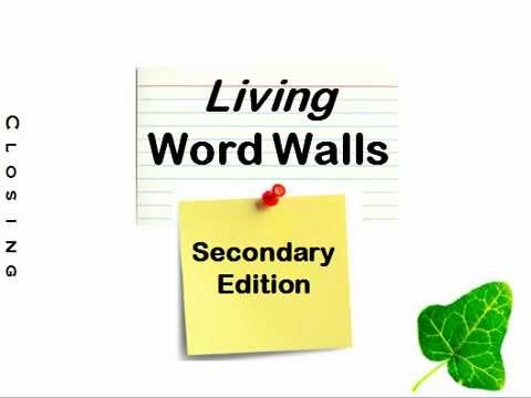 Word Wall: Secondary Edition - YouTube