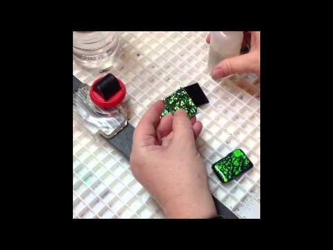 How to make a fused glass dichroic pendant youtube how to make a fused glass dichroic pendant aloadofball Images