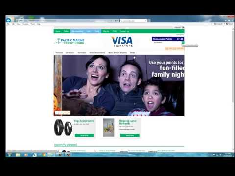PMCU VISA Signature Rewards Redemption Site Preview