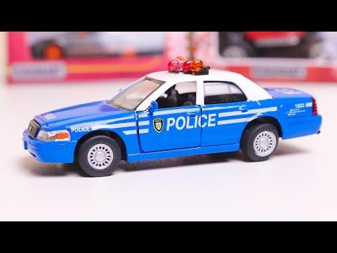 Машинки KINSMART Гоночные машины Распаковка машинок. Полицейская машина
