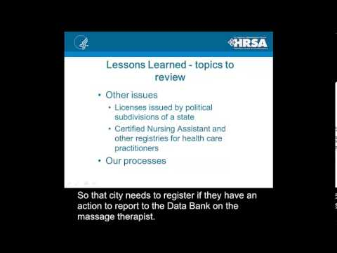 Compliance Open Forum Video - National Practitioner Data Bank: Reporting