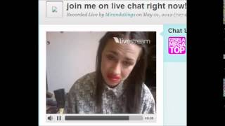 MirandaSings giving advice twitcam
