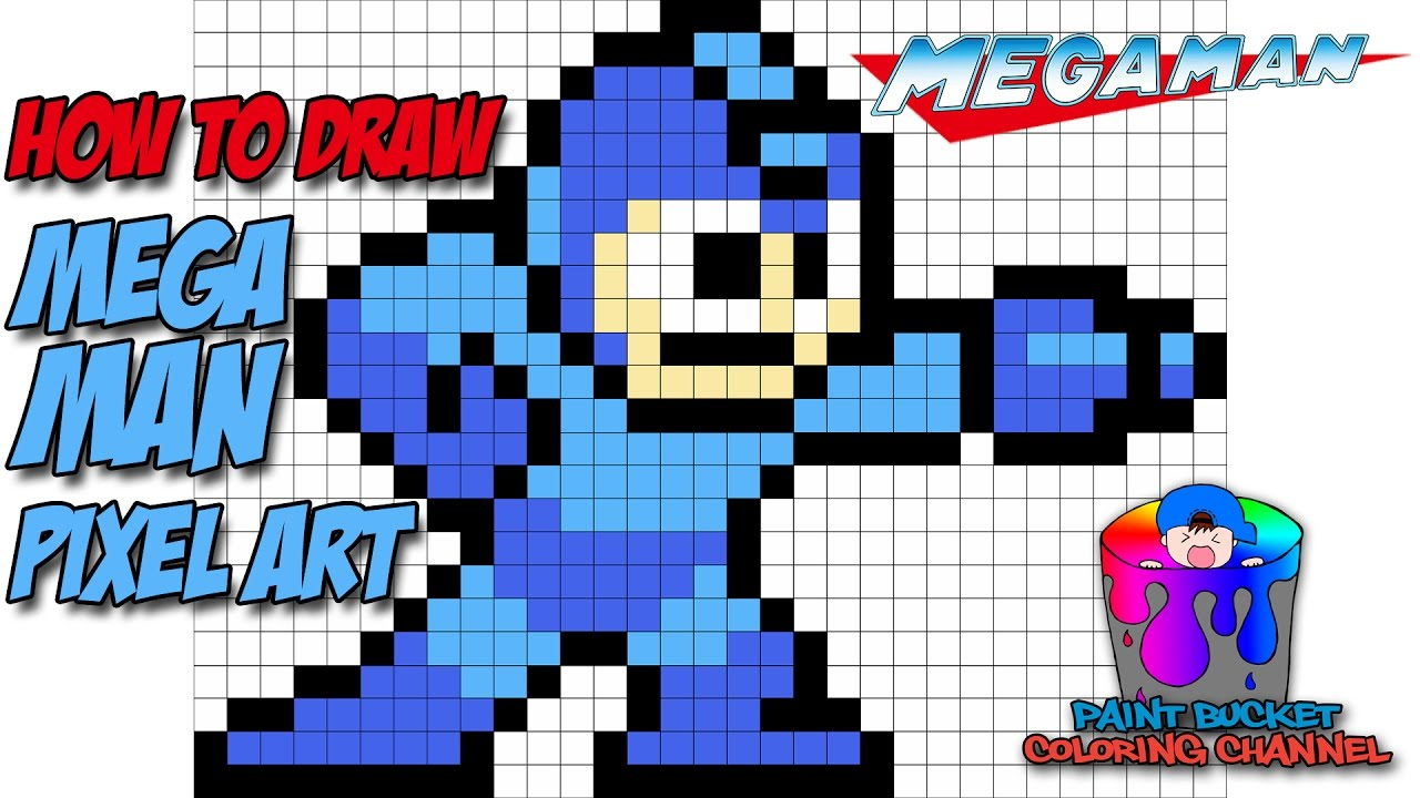 megaman pixel art