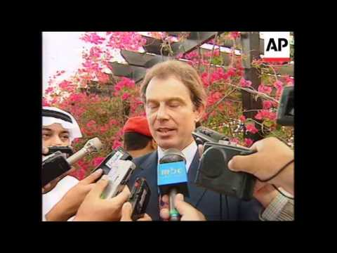 SAUDI ARABIA/EGYPT: TONY BLAIR SAYS MIDDLE EAST PEACE IS POSSIBLE