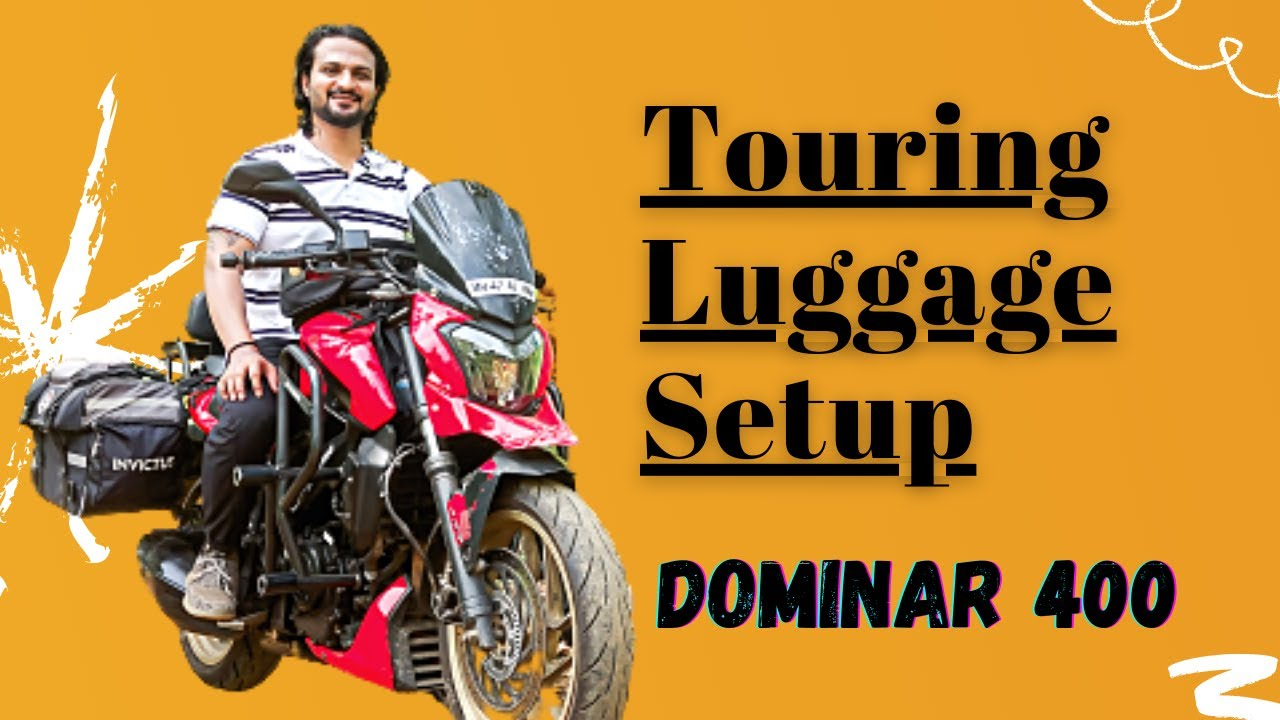 Complete Luggage Setup for Motorcycle Touring in India | Story on Wheels | #marathivlog