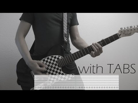 Skillet - Stars Guitar Cover w/Tabs on screen