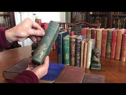 Collection 12 fine antique 19th century childrens books