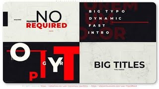 Big Titles Typo. Smart Opener | After Effects template