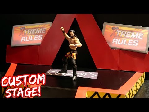 HOW TO MAKE A CUSTOM ENTRANCE STAGE FOR YOUR WWE FIGURES!!! (Tutorial)