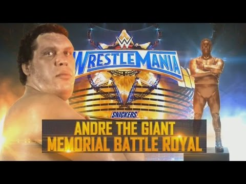 Wrestlemania 33 Kickoff Andre The Giant Memorial Battle Royal Full Match HD