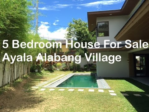 5 Bedroom House for Sale P105 Million Ayala Alabang Village Muntinlupa by Manila Luxury Real Estate