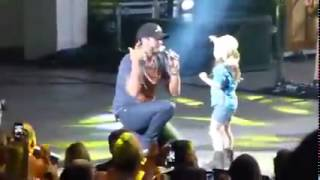 Luke Bryan With Little Girl Kylee - Someone Else Calling You Baby