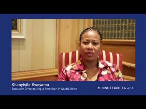 Khanyisile Kweyama talks about the Mining Lekgotla 2014