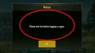 Pubg Mobile | Fix Please Wait Before Logging In Again | Time Problem login In Pubg 4m