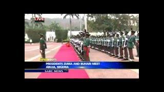 President Zuma inspects guard of honour in Abuja, Nigeria