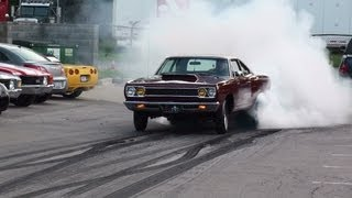 "1968 1000hp Hemi Roadrunner Burnout ""Rat Poison"" GODFATHER Racing MORE HEMI"