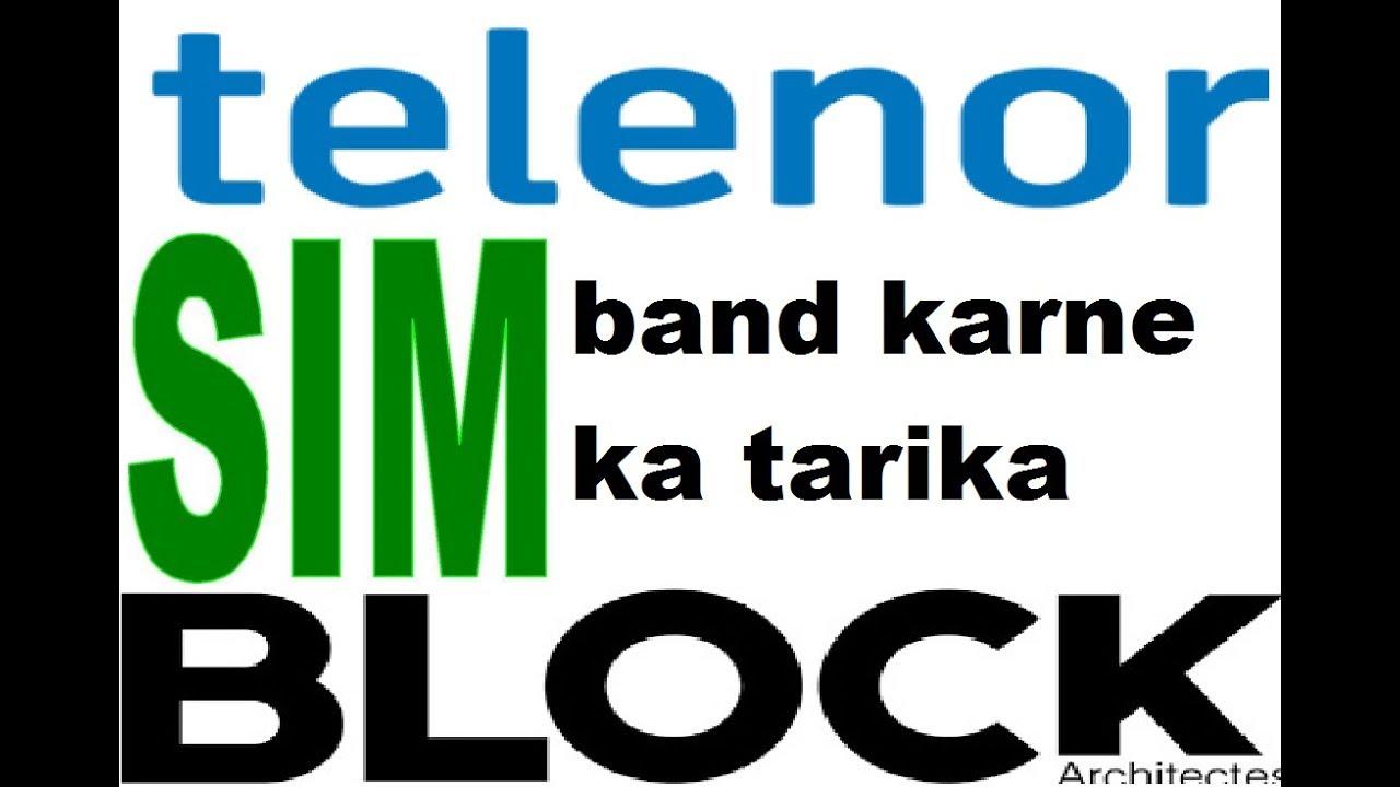 how to block telenor sim