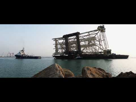 Shah Deniz 2 quarters and utilities platform jackets head out to sea