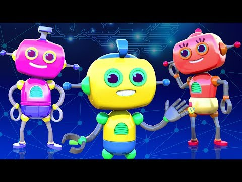 ROBOT FAMILY SONG - 3D Nursery Rhymes For Kids By All Babies Channel