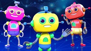 ROBOT FAMILY SONG - 3D Nursery Rhymes For Babies By All Babies Channel | Kids Songs