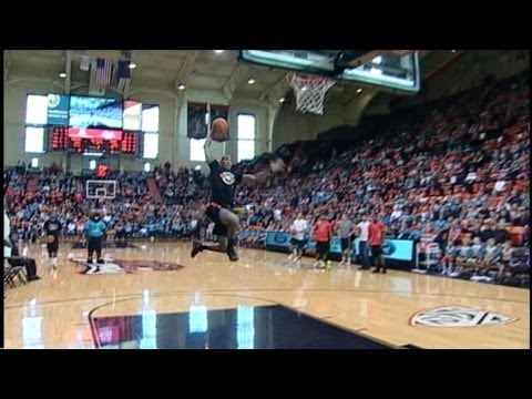 OSU Football SLAM DUNK Contest at halftime  2/23/13