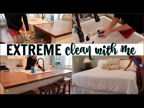 EXTREME CLEAN WITH ME 2018 // SPEED CLEAN WITH ME // ULTIMATE CLEANING MOTIVATION