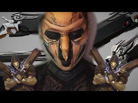 Reaper Overwatch Borderlands Style Body Painting Youtube