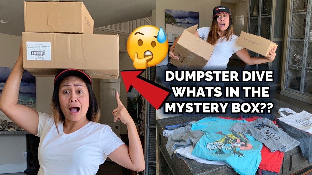 DUMPSTER DIVE WHATS IN THE MYSTERY BOX?!!
