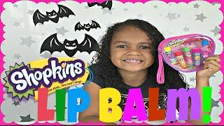 shopkins lip balm d lish donut poppy corn kooky cookie lippy lips strawberry kiss