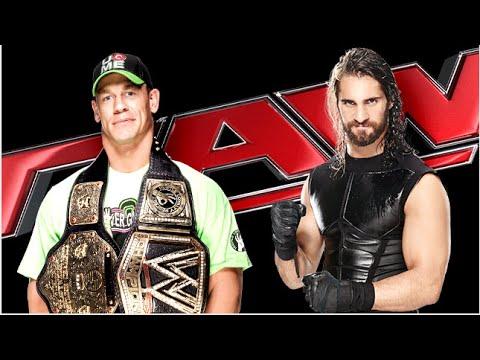 Wwe John Cena VS Seth Rollins - مصارعه حرة جون سينا - حلقان مصارعه جون سينا