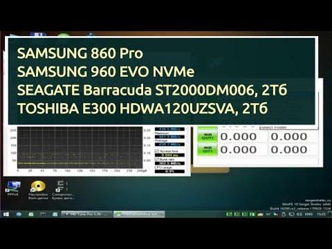 Тест 4 дисков на скорость. Samsung 860 и 960, а также Toshiba и Seagate под 2Тб.