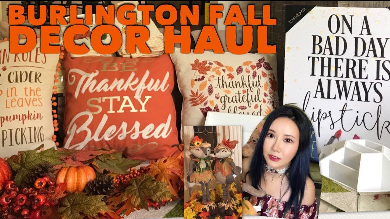 fall home decor haul (burlington coat factory, home goods