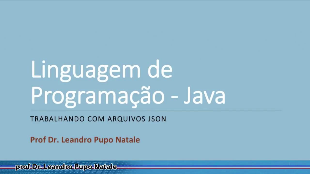 Como ler arquivos JSON em Java - YouTube