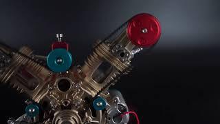 Moteur avec 2-Cylindres en V