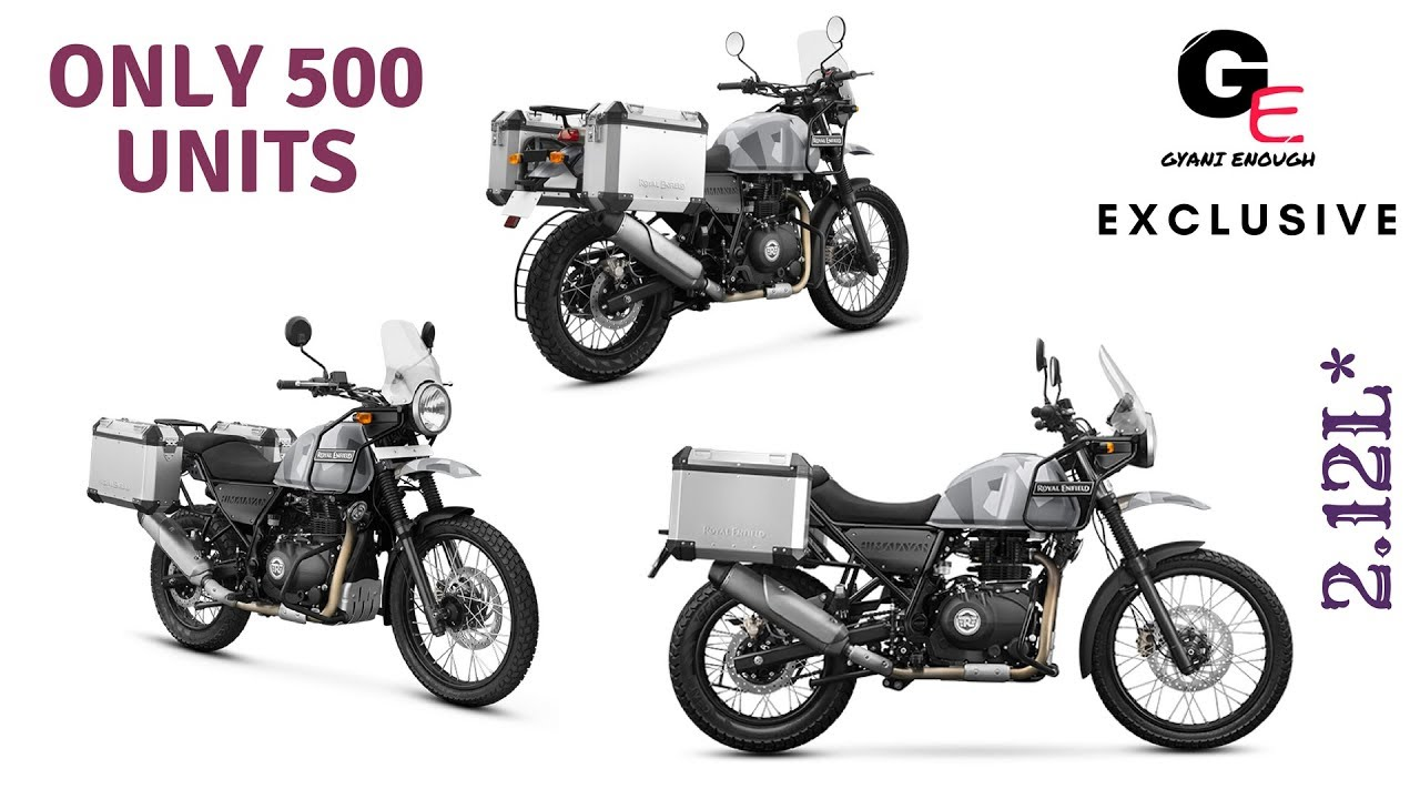 Royal Enfield Himalayan Sleet Edition 2018 Launched Watch To See