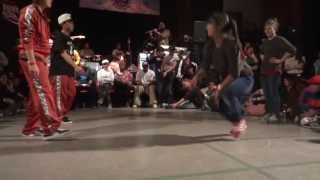 2on2 BGirl Battle BOTY international 2013 Jilou & Frost (GER) vs Kanami & Myw (JAP)