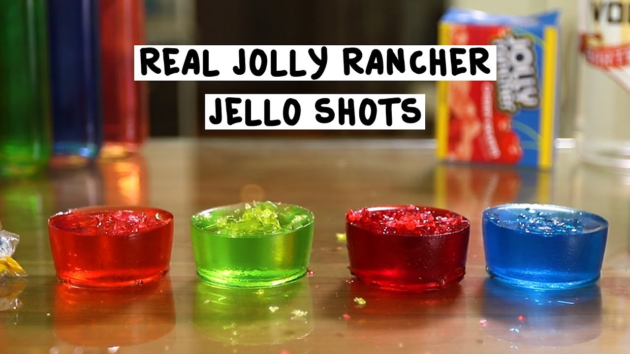 Real Jolly Rancher Jello Shots Tipsy Bartender