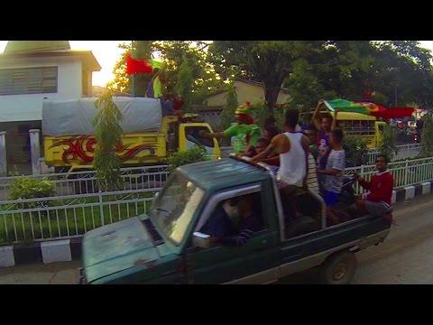 East Timor Celebrates the 2016 EUFA Final (Insane Motorcade)