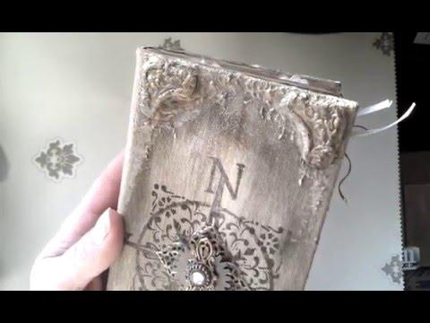"Vintage negative dies journal ""Secret Garden"" in box for Meg's Garden"