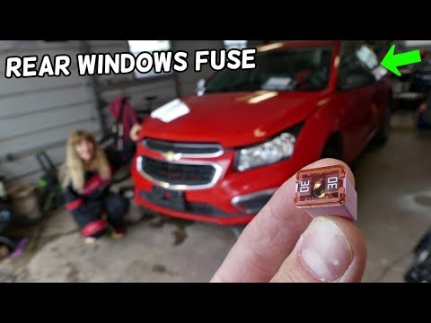 CHEVROLET CRUZE REAR POWER WINDOWS FUSE LOCATION REPLACEMENT. REAR WINDOW NOT GOING UP DOWN