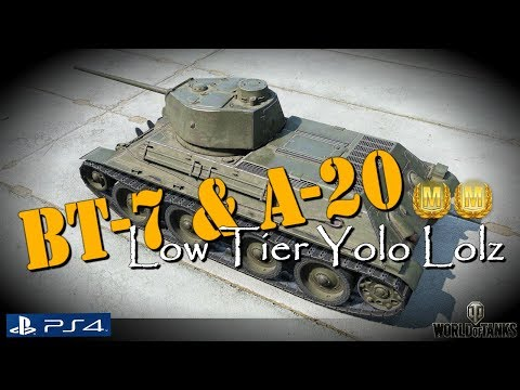 BT-7 & A-20 Low Tier Yolo Lolz and Aces | WoT Console