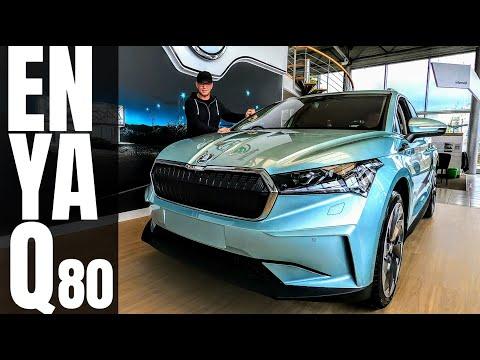 2021 Škoda ENYAQ IV 80 elektromos SUV | 510 km hatótáv | 204 CP 310 Nm | új autó bemutató #enyaq
