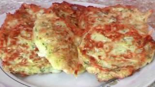 Оладьи из кабачков, простые и вкусные Завтрак за 15 минут